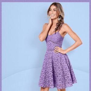 VENUS Violet Eyelet Dress Size 2 (fit & flare)